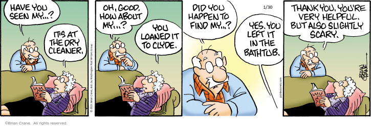 Comic Strip Brian Crane  Pickles 2021-01-30 but