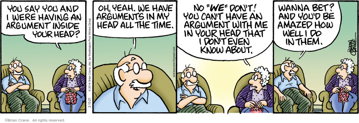 Comic Strip Brian Crane  Pickles 2021-02-10 argument