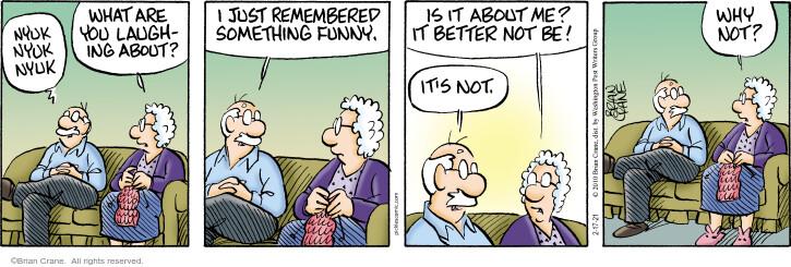Comic Strip Brian Crane  Pickles 2021-02-17 why