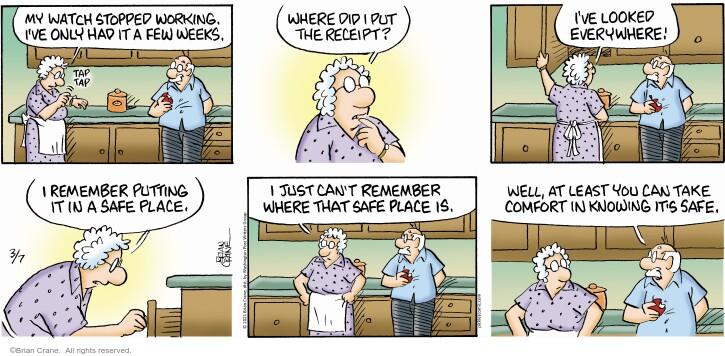 Comic Strip Brian Crane  Pickles 2021-03-07 know