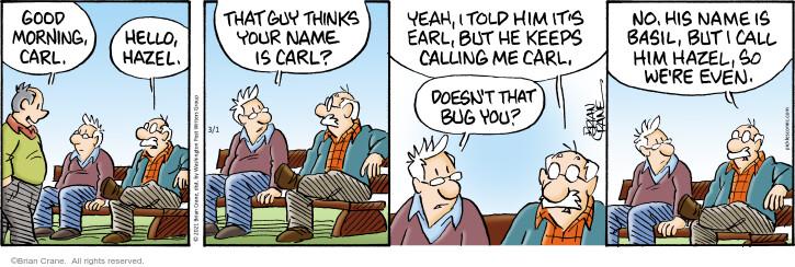 Comic Strip Brian Crane  Pickles 2021-03-01 think