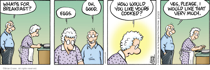 Comic Strip Brian Crane  Pickles 2021-03-13 cooking