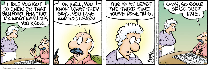 Comic Strip Brian Crane  Pickles 2021-03-16 know
