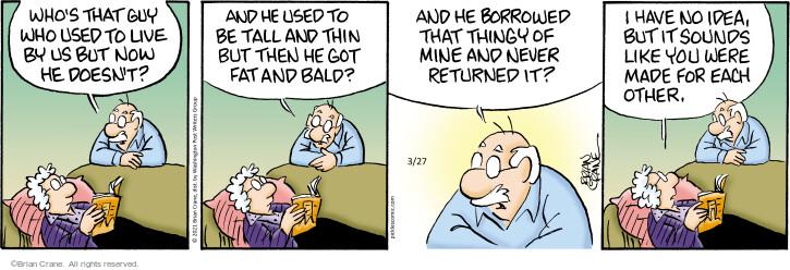 Comic Strip Brian Crane  Pickles 2021-03-27 like