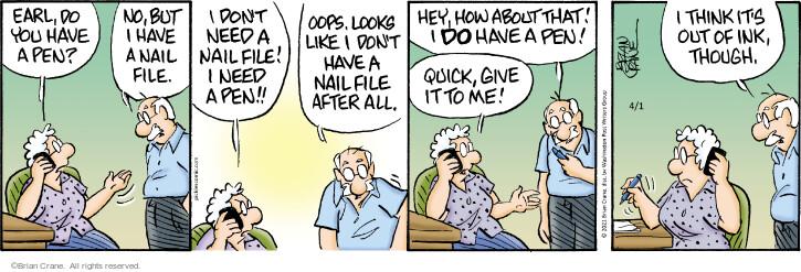 Comic Strip Brian Crane  Pickles 2021-04-01 like