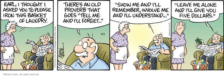 Comic Strip Brian Crane  Pickles 2021-04-02 thought