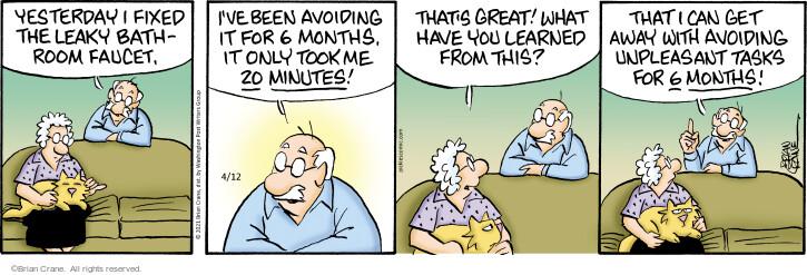 Comic Strip Brian Crane  Pickles 2021-04-12 minute