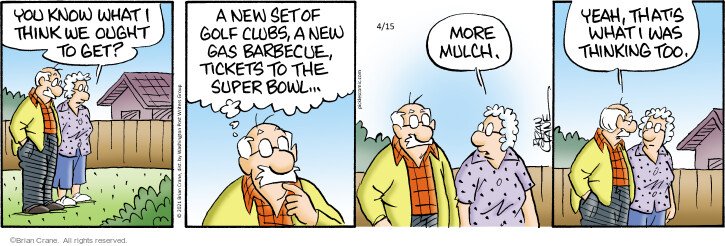 Comic Strip Brian Crane  Pickles 2021-04-15 think