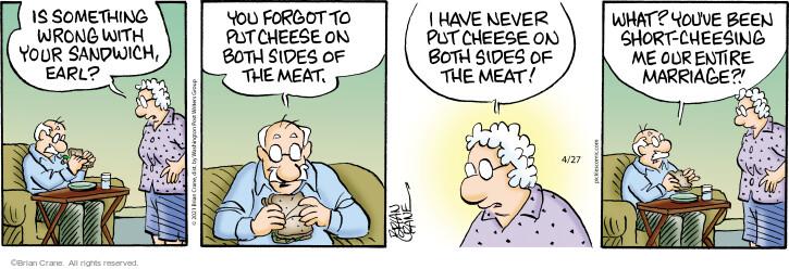 Comic Strip Brian Crane  Pickles 2021-04-27 meat