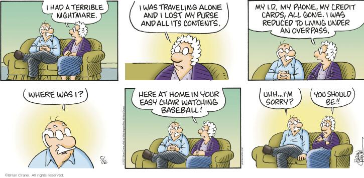 Comic Strip Brian Crane  Pickles 2021-05-16 have