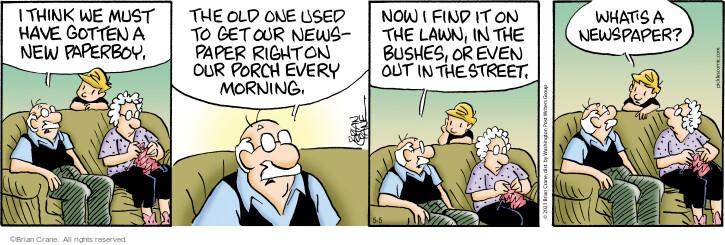 Comic Strip Brian Crane  Pickles 2021-05-05 think