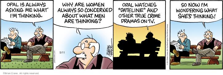 Comic Strip Brian Crane  Pickles 2021-05-11 think