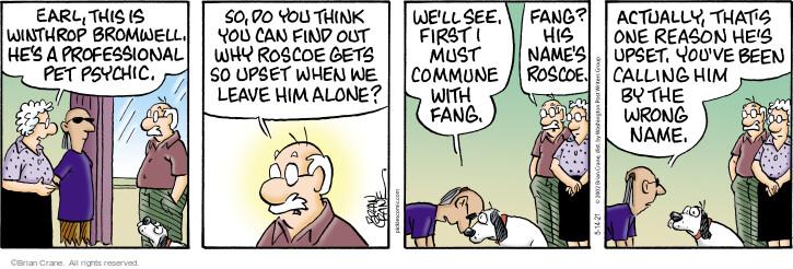 Comic Strip Brian Crane  Pickles 2021-05-14 think