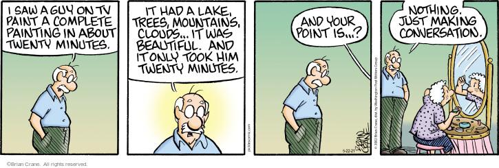 Comic Strip Brian Crane  Pickles 2021-05-22 have