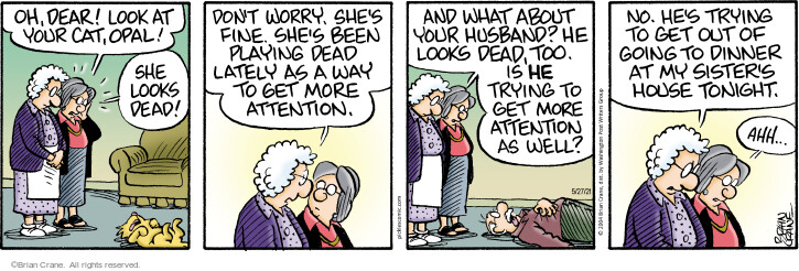 Comic Strip Brian Crane  Pickles 2021-05-27 she