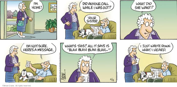Comic Strip Brian Crane  Pickles 2021-06-13 say
