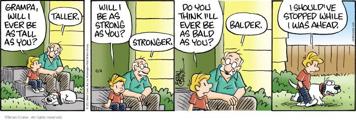 Comic Strip Brian Crane  Pickles 2021-06-04 bald