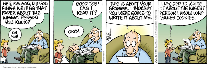 Comic Strip Brian Crane  Pickles 2021-06-25 originally