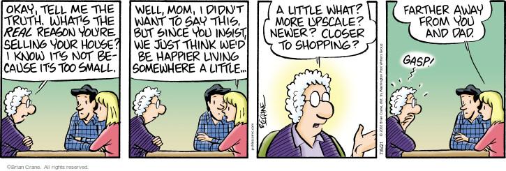 Comic Strip Brian Crane  Pickles 2021-07-05 say