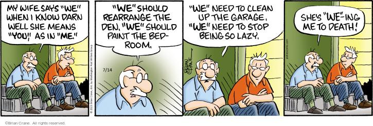 Comic Strip Brian Crane  Pickles 2021-07-14 say