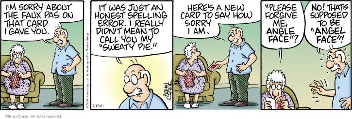 Comic Strip Brian Crane  Pickles 2021-07-17 say