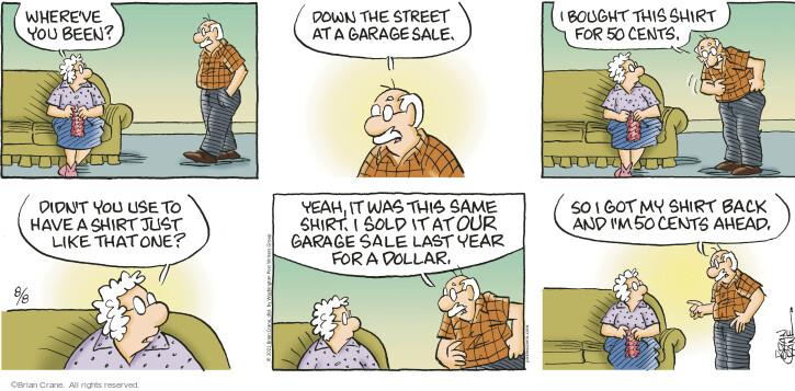 Comic Strip Brian Crane  Pickles 2021-08-08 Brian