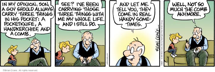 Comic Strip Brian Crane  Pickles 2021-07-30 bald