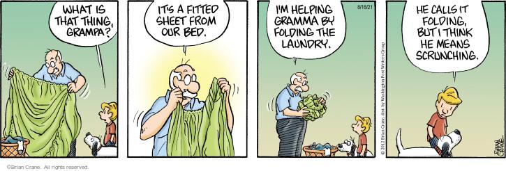 Comic Strip Brian Crane  Pickles 2021-08-18 originally
