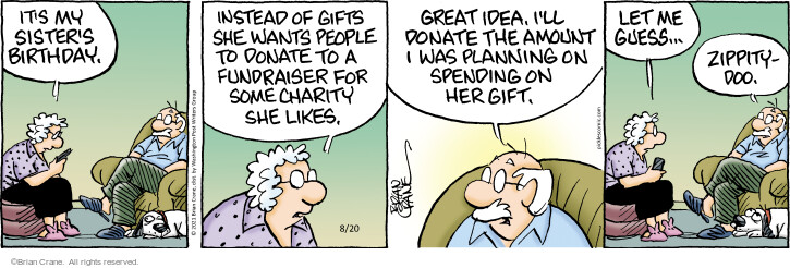 Comic Strip Brian Crane  Pickles 2021-08-20 she