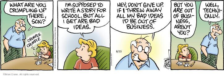 Comic Strip Brian Crane  Pickles 2021-08-23 writing