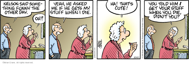 Comic Strip Brian Crane  Pickles 2021-08-24 wife