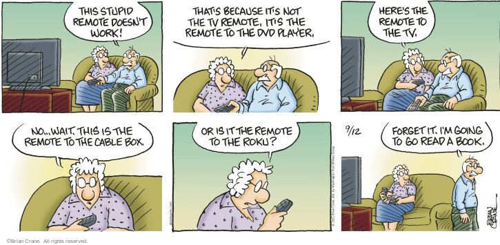 Comic Strip Brian Crane  Pickles 2021-09-12 television cartoon