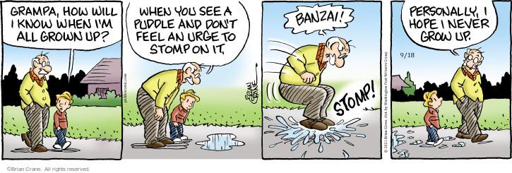 Comic Strip Brian Crane  Pickles 2021-09-18 know