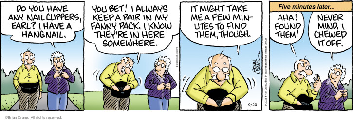 Comic Strip Brian Crane  Pickles 2021-09-20 know