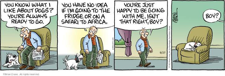 Comic Strip Brian Crane  Pickles 2021-09-27 know