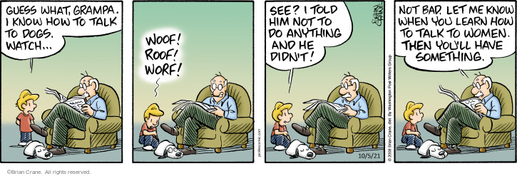 Comic Strip Brian Crane  Pickles 2021-10-05 know