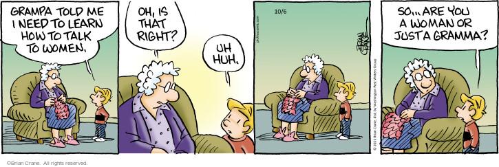 Comic Strip Brian Crane  Pickles 2021-10-06 grampa