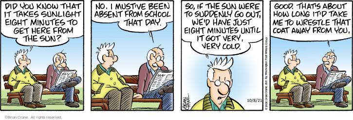 Comic Strip Brian Crane  Pickles 2021-10-08 know
