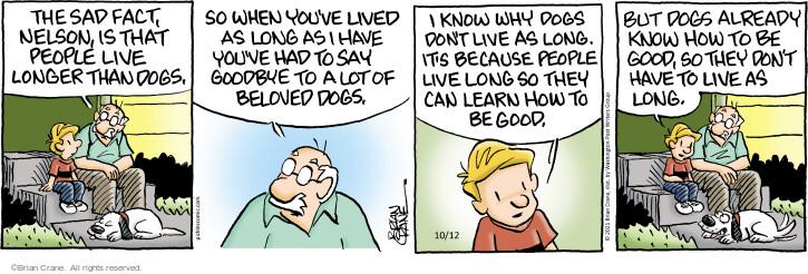 Comic Strip Brian Crane  Pickles 2021-10-12 know