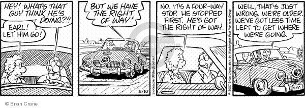 Comic Strip Brian Crane  Pickles 2007-08-10 driver