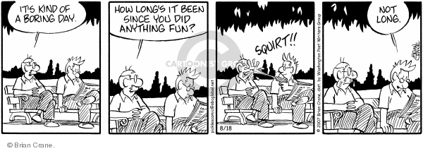 Comic Strip Brian Crane  Pickles 2007-08-18 gun