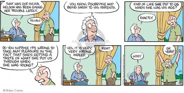 Comic Strip Brian Crane  Pickles 2007-08-19 generational