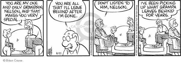 Comic Strip Brian Crane  Pickles 2007-08-21 relationship