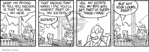 Comic Strip Brian Crane  Pickles 2007-08-24 death