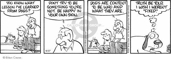 Comic Strip Brian Crane  Pickles 2007-09-17 satisfaction