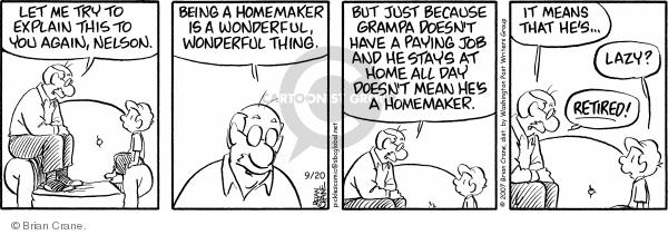 Comic Strip Brian Crane  Pickles 2007-09-20 mom