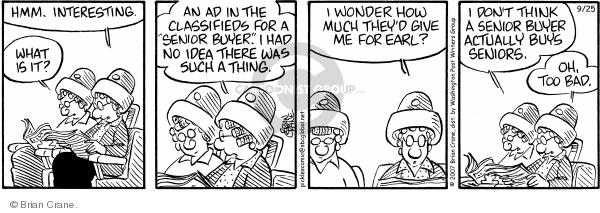 Comic Strip Brian Crane  Pickles 2007-09-25 relationship