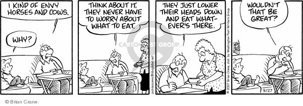 Comic Strip Brian Crane  Pickles 2007-09-27 lower