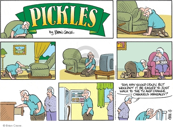 Comic Strip Brian Crane  Pickles 2007-09-30 recliner