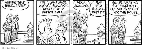 Comic Strip Brian Crane  Pickles 2007-10-04 lamp
